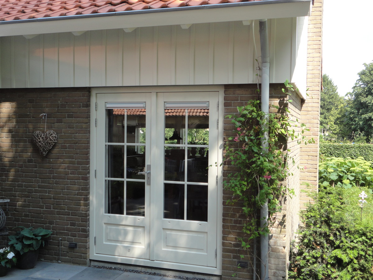 Dubbele deuren met roedes Dronten