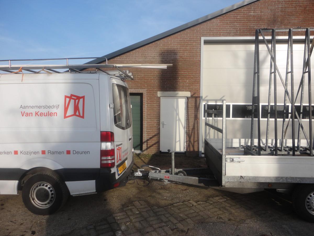 Kozijn met Alumax buitendeur, Rijsbruggerweg Bunnik