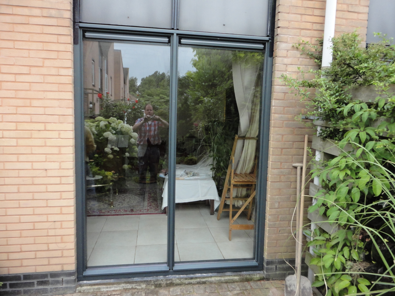 Vast glas kozijn in 2 delen Gemsstraat Almere