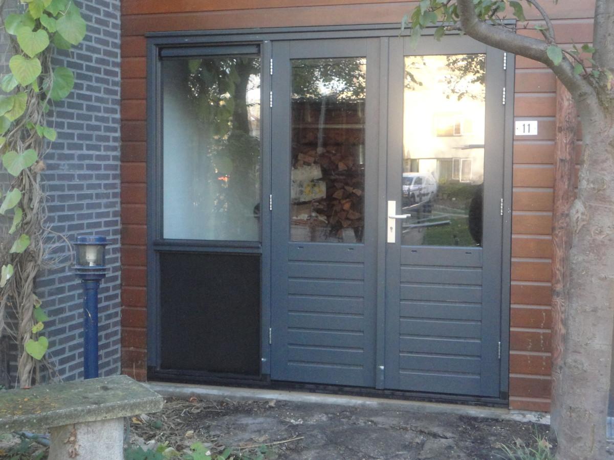 Kozijn met dubbele deuren Cranberrylaan Almere
