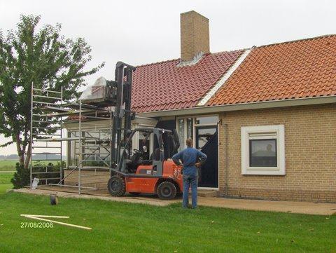 Dakrenovatie woonboerderij Oostelijk Flevoland